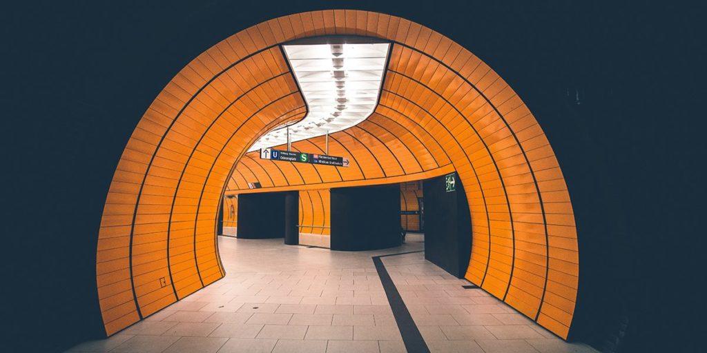 Empty subway terminal.